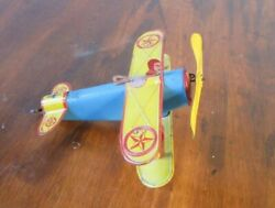 Early Tin Windup Plane By Marx C. 1930-40and039s