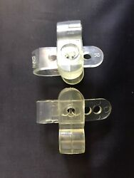Vtg Nfl Game Football Helmet Clear Agii Stabilizer Face Mask Clips Not Used Worn