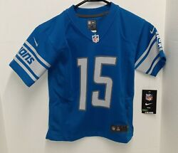 Nike On Feild Detroit Lions 15 Golden Tate Iii Jersey - Youth Size M 5/6 Nwt