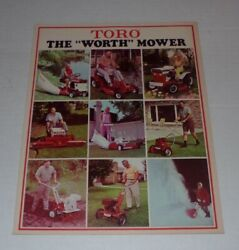 1968 Toro Power Lawn The Worth Mower Ad Dealer Fold Out Brochure