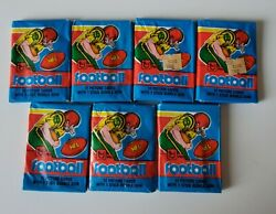 5 1981 Topps Football Card Unopened Wax Pack In 1979 Wrapper