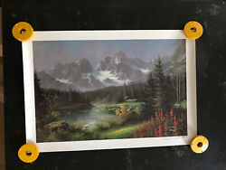 Tok Hwang Lithograph Hand Signed / Numbered / Dated 345/999 Mt Mckinley Glacier