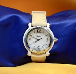 Chopard Limited Edition Ceramic/stainless Still Watch W/diamonds Date And Box