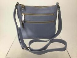 Cole Haan Blue Leather Expandable Crossbody Bag $25.00
