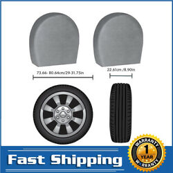 Set Of 4 Car Wheel Tire Cover For Truck Trailer Camper Motorhome For 27-34 Inch