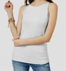 70 Inc International Concepts Womenand039s Solid White Boat Neck Top Size Medium