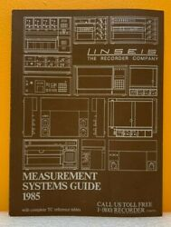 Linseis The Recorder Company 1985 Measurement Systems Guide Catalog.