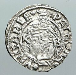 1528-58 Hungary King Ferdinand Madonna And Child Antique Silver Denar Coin I90558