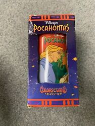 Pocahontas And John Smith Cup Burger King Colors Of The Wind Disney--vintage