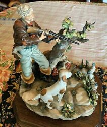 Large Capodimonte Walter Scapinello Signed Porcelain Sculpture-amazing Condition