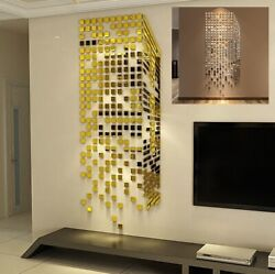 Mirror Wall Sticker 3D Acrylic Self Adhesive Removable for Living Room Decor