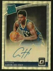 Aaron Holiday 2018-19 Donruss Optic Auto D 1/1 Rated Rookie Rc Vinyl Pacers