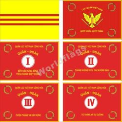 South Vietnam Flag 3x5ft Army Arvn I Ii Iii Iv Corps Red Banner Republic