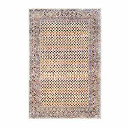 5and03910x9and039 Colorful Wool And Sari Silk Saroogh Hand Knotted Rug G62317