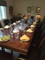 12andrsquo Dining Table From 1800andrsquos With 12 Leather Chairs