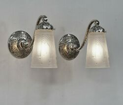 Muller Freres A Pair Of 1930 French Art Deco Wall Sconces ... Lamp 1925 France