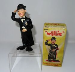 Charlie Chaplin Style Toy, Reliable Plastics Working Wind-up Willie Toy And Box