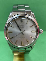 Authentic Rolex Oyster Precision 1002 Air-king 34mm Automatic Silver Dial H19
