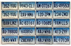 Lot Of 20 Connecticut License Plate Craft Grade Plates 2005-2015 Nice Lot 1