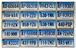 Lot Of 20 Connecticut License Plate Craft Grade Plates 2005-2015 Nice Lot 2