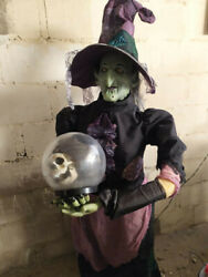 Gemmy Life Size Animated Fortune Telling Witch 2008 Model Halloween Prop Classic