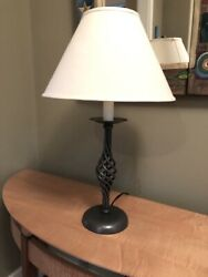 Hubbardton Forge wrought iron twist lamp. Hand forged in Vermont. Timeless.
