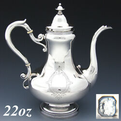 Antique French Sterling Silver Solitaire Sized Coffee Or Tea Pot Aesthetic Styl