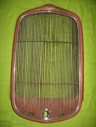 1932 Ford Grille Shell With Insert + Radiator Cap Trim Bezel Original 32 Grill
