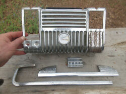 1946 Plymouth Special Deluxe Radio Dash Bezel Ashtray And Emblem