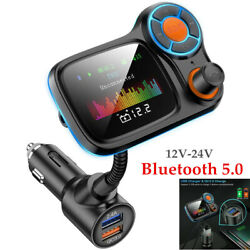 12-24v Bluetooth Auto Qc3.0 Fm Transmitter Mp3 Player Hands Free Radio Charger