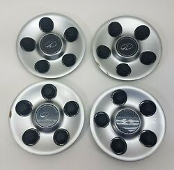 00-02 Olds Intrigue 16 Wheel Painted Center Hub Caps Set Of 4 9593499 3