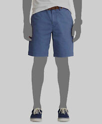 125 Polo Mens Blue Casual Classic Fit Stretch Chino Shorts Size 34