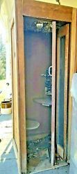 Telephone Booth 1950's Vintage Wooden Ready To Restore Could Be A Project