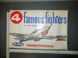 Vintage Aurora Famous Fighters P-40 Fw-190 Spitfire At-6 Texan Model Set Sealed