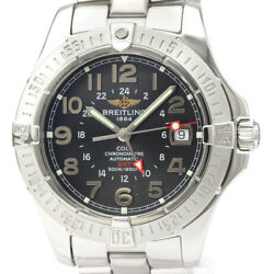 Polished Breitling Colt Gmt Stainless Steel Automatic Mens Watch A32350 Bf528360