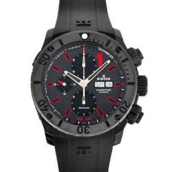 Edox Class One Chrono Offshore 1 At Ss Ce Menand039s Black Dial 01114-37n-nro [e0420]