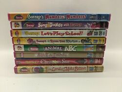 Barney Dvd Collection Lot Of 8 Dvd - Fair To Good Condition See Details For List