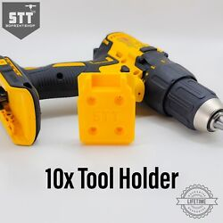 10 Pack Yellow Dewalt 20v Tool Hanger / Tool Holder Quick Pull Made In Usa