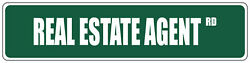 Green Aluminum Weatherproof Road Street Signs Real Estate Agent Home Decor Wall