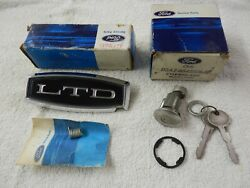 Trunk Lock Key Hole Cover And Trunk Lock Cylinder, 1972 Ford Ltd, Nos