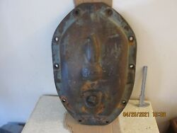 Antique Case Tractor Diff Cover Some Original Orange Paint Free Shipping