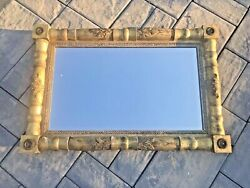 Vintage Antique Federal Style Gilt Wall Or Mantel Mirror Medallion Decorations