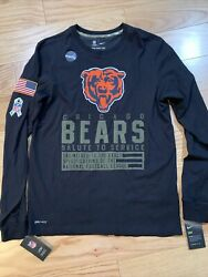 Nike Menand039s Chicago Bears Drifit Salute To Service Long Sleeve Tee Xl Nkdt Nfl