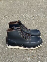 Red Wing Heritage 6 Moc Toe Menand039s Boots 9 D Black Prairie Leather 8849