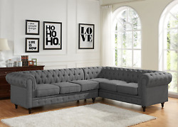 Container Furniture Direct Shonda Fabric Upholstered Button-tufted Two 2 Piece