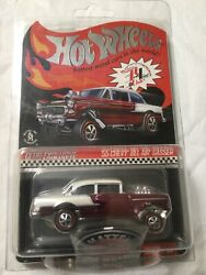 2016 Hot Wheels Rlc Exclusive '55 Chevy Bel Air Gasser's Black,red,blue Poster