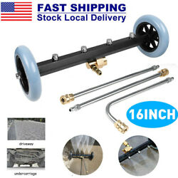 2in1 Car High Pressure 4 Spray Nozzle Under Body Chassis Water Broom Washer 16''