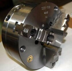 Bison 10 3-jaw Set-tru Scorll Forged Steel Lathe Chuck-.0004 Tir W/fine Adj.