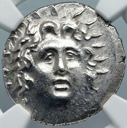 Rhodes Greek Island Off Caria Authentic Ancient Silver Ancient Coin Ngc I88879