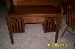 Antique No. 207 C.o. Writing Desk With Drawer Solid Wood Early 1900and039s 24 X 40